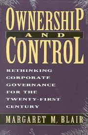 Cover of: Ownership and control