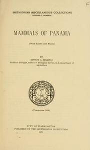 Cover of: Mammals of Panama