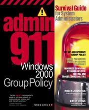 Cover of: Admin911: Wwindows 2000 Group Policy