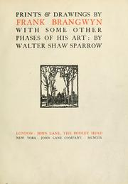 Cover of: Prints and drawings by Frank Brangwyn | Sparrow, Walter Shaw