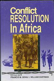 Cover of: Conflict resolution in Africa