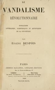Cover of: La vandalisme révolutionnaire