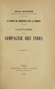 Cover of: Un proces de corruption sous la terreur