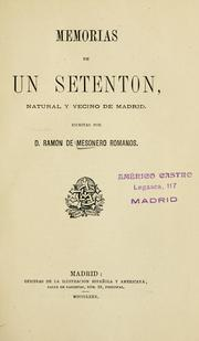 Cover of: Memorias de un setenton