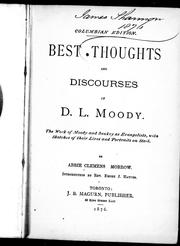 Cover of: Best thoughts and discourses of D.L. Moody