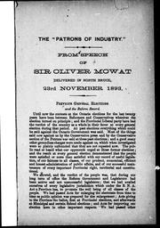 "Cover of: The "" Patrons of Industry"""