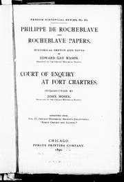 Cover of: Philippe de Rocheblave and Rocheblave papers
