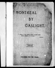 Cover of: Montreal by gaslight |