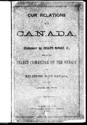 Cover of: Our relations with Canada