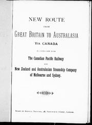 Cover of: New route from Great Britain to Australia via Canada |