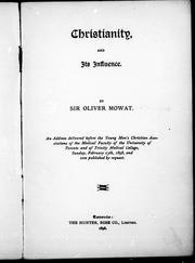 Cover of: Christianity and its influence