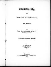Cover of: Christianity and some of its evidences
