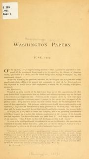 Cover of: The Washington papers
