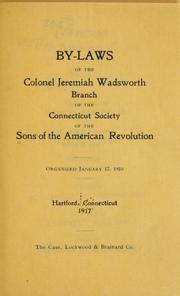 Cover of: Sons of the American revolution. |