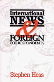 Cover of: International news & foreign correspondents