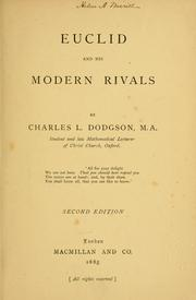 Cover of: Euclid and his modern rivals