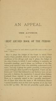 "Cover of: An appeal by the author of the ""best abused book of the period."""