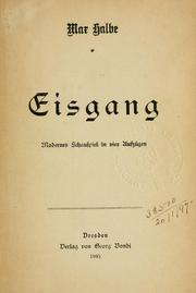 Cover of: Eisgang