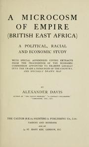 Cover of: microcosm of empire (British East Africa) | Alexander Davis