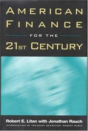 Cover of: American finance for the 21st century