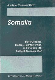 Cover of: Somalia | Terrence Lyons