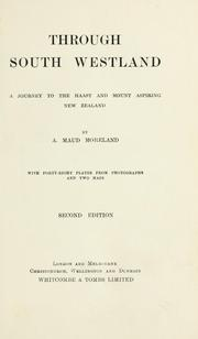 Cover of: Through South Westland | A. Maud Moreland