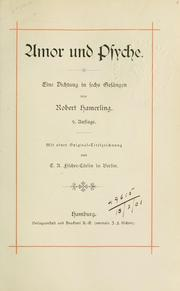 Cover of: Amor und Psyche