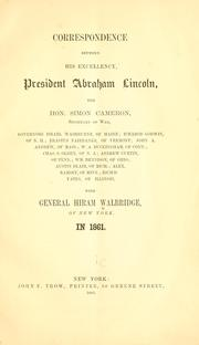 Cover of: Correspondence between His Excellency