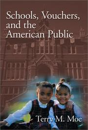 Cover of: Schools, Vouchers, and the American Public | Terry M. Moe