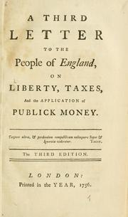 Cover of: A third letter to the people of England