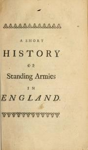 Cover of: An history of standing armies in England