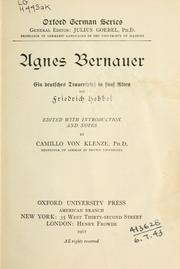 Cover of: Agnes Bernauer