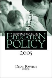 Cover of: Brookings Papers on Education Policy 2005 (Brookings Papers on Education Policy) | Diane Ravitch