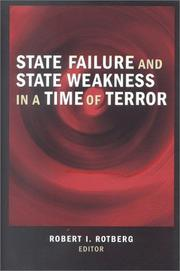 Cover of: State Failure and State Weakness in a Time of Terror