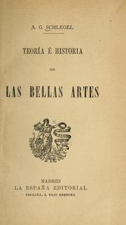 Cover of: Teoria e historia de las bellas artes
