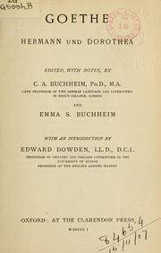 Cover of: Hermann und Dorothea