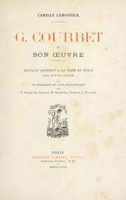 Cover of: G. Courbet et son oeuvre