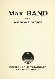 Cover of: Max Band