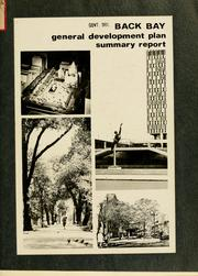 Cover of: Back bay general development plan, summary report. | Boston Redevelopment Authority