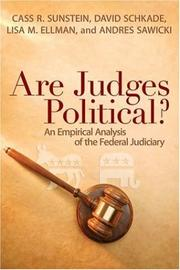 Cover of: Are Judges Political?: An Empirical Analysis of the Federal Judiciary