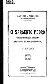 Cover of: O sargento Pedro