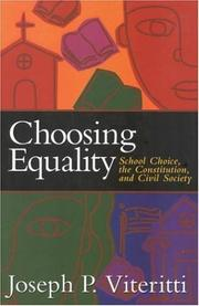 Cover of: Choosing Equality