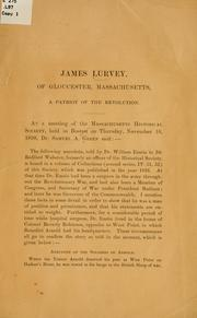 Cover of: James Lurvey