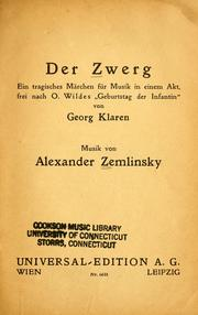 Cover of: Der Zwerg