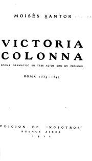 Cover of: Victoria Colonna