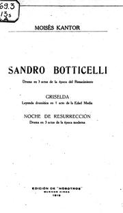 Cover of: Sandro Botticelli