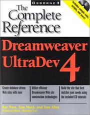 Dreamweaver UltraDev 4 by Ray West