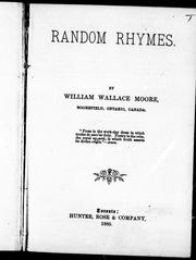 Cover of: Random rhymes |
