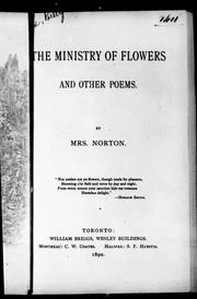 Cover of: The ministry of flowers, and other poems |