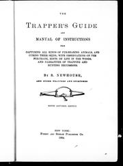 Cover of: The trapper's guide and manual of instructions